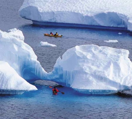 Kayaking in Antarctica with Aurora Expeditions