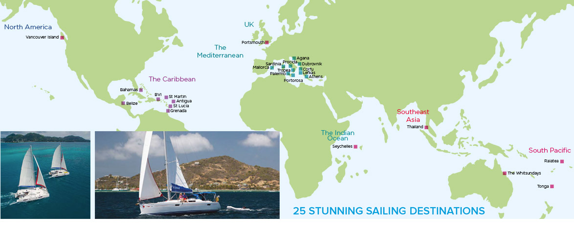 25 stunning sailing destinations worldwide